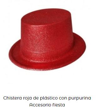 sombrero nochevieja complementos año nuevo rojo
