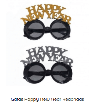 gafas nochevieja feliz año cotillón