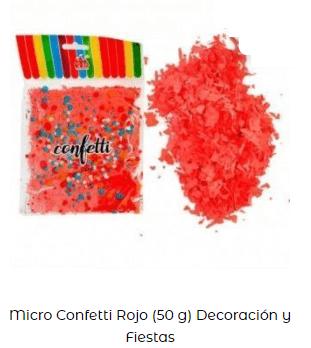 cotillón nochevieja confeti roja