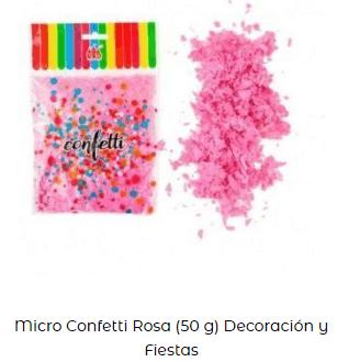 cotillón nochevieja confeti rosa