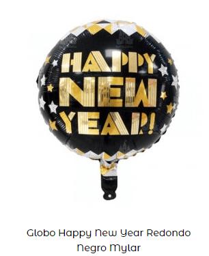 cotillón nochevieja decoración globo feliz año