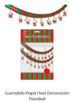 ideas decoración guirnaldas papá noel