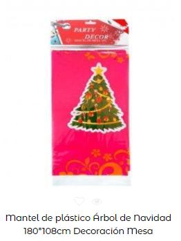 decoración mesa navidad mantel árbol