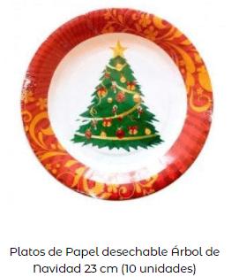 decoración mesa navidad platos árbol