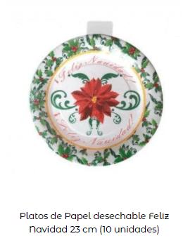 decoración mesa navidad platos motivos