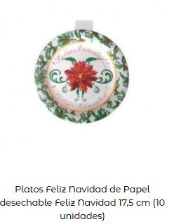 decoración mesa navidad platos motivos pequeños