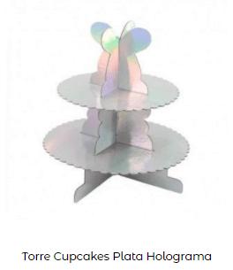 decoración mesa navidad platos plata torre