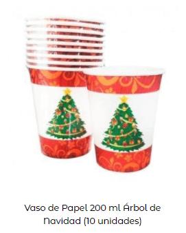 decoración mesa navidad vasos árbol