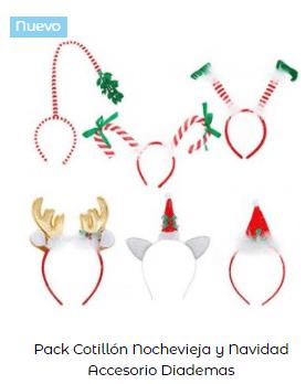 diadema disfraz noche navidad elfos