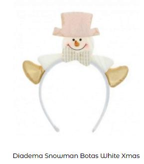 diadema noche cena navidad snowman