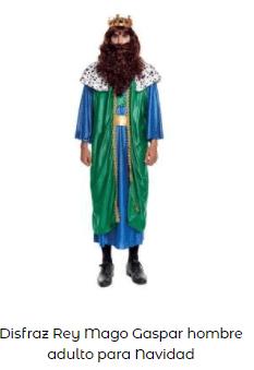 disfraces belén viviente rey mago gaspar adulto