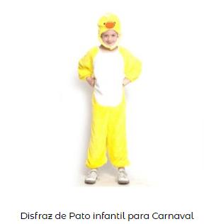 disfraz pato belén viviente infantil