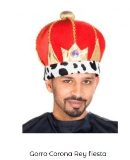 corona disfraz belén viviente rey mago baltasar
