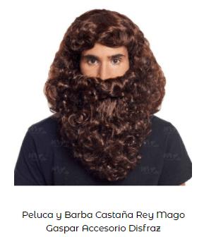barba peluca disfraz belén viviente rey mago gaspar