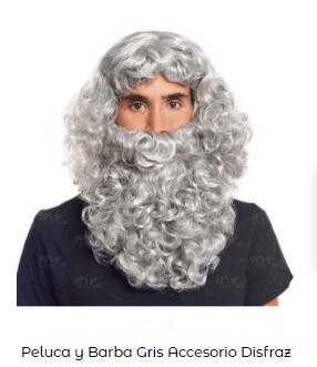 barba peluca disfraz belén viviente rey mago melchor
