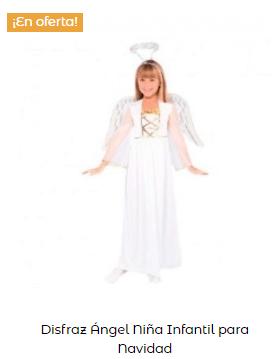disfraz ángel para niña belén viviente