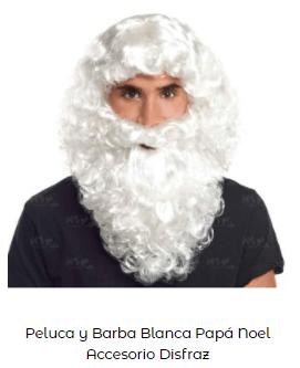 barba disfraz papá noel