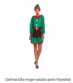 disfraz elfo ayudante mama noel