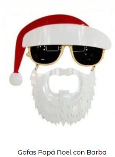 disfraz papá noel gafas