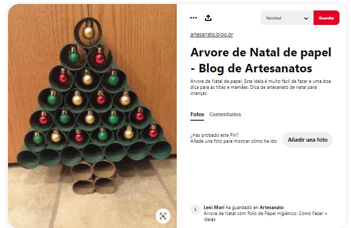 ideas como hacer arbol navidad materiales reciclados papel higiénico