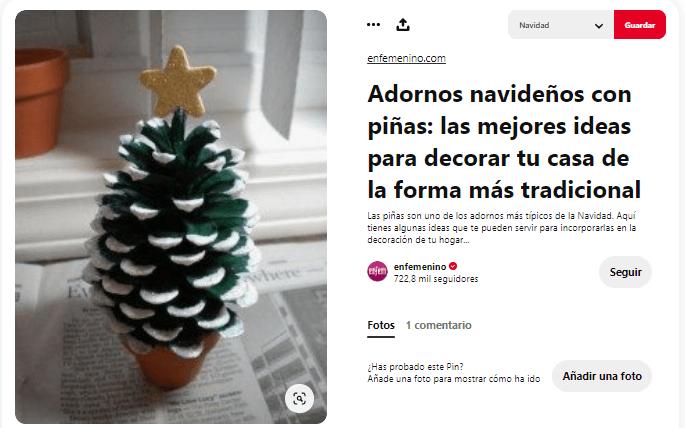 ideas como hacer arbol navidad materiales reciclados piñas
