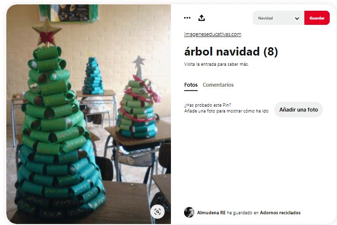 ideas como hacer arbol navidad materiales reciclados rollos cocina