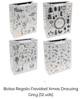 ideas decoración mesa navidad bolsa regalo plata