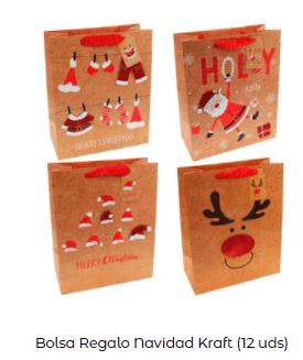ideas decoración mesa navidad bolsa regalo