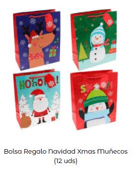ideas decoración mesa navidad bolsa regalo niños