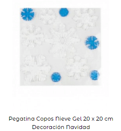 pegatinas copos nieve decoración navidad