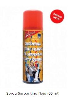 spray serpentina roja navidad