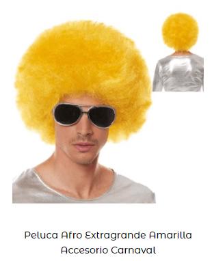 pelucas baratas disfraces disco música