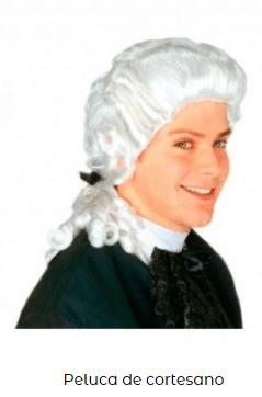 pelucas baratas disfraces epoca