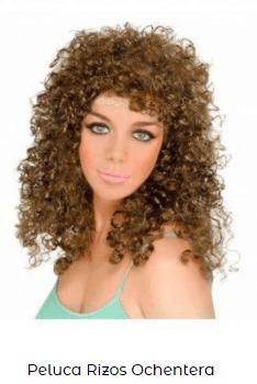 peinado baratas disfraces ochentera