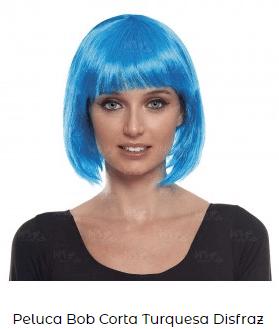 pelucas cortas para disfraces lisa