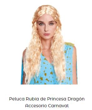 peluca famosa daenerys juego de tronos