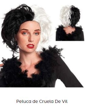 peluca famosa cruella de vil