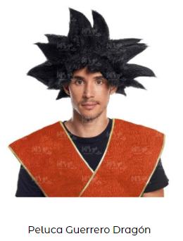 peluca famosa goku