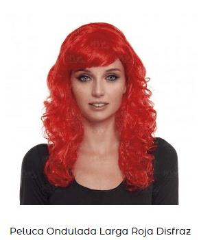 pelucas larga para disfraces rizada
