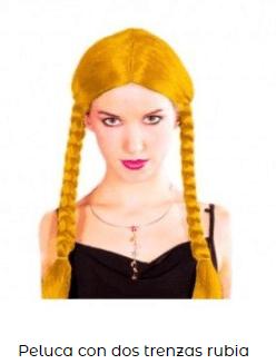 trenzas amarillas mujer