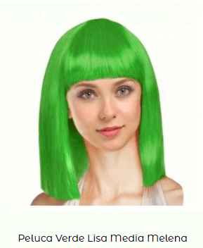 pelo liso peluca