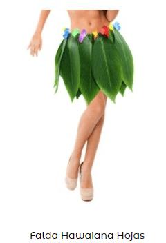 accesorio falda naturaleza disfraz