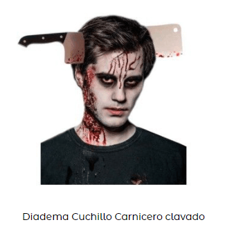 diadema cuchillo disfraz de zombi