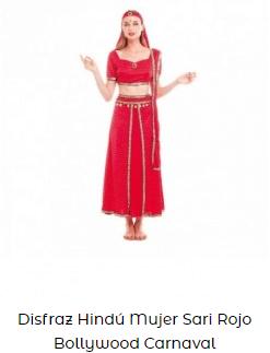 disfraces cretaivos para carnaval mujer bollywood
