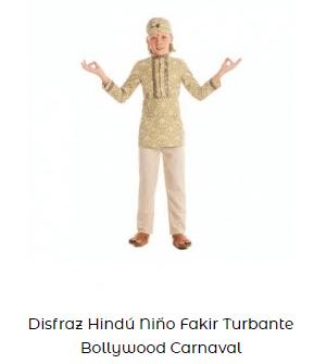 disfraces cretaivos para carnaval niño bollywood