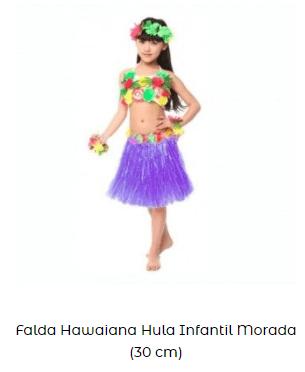 disfraces hawaiana para niña