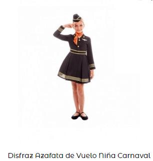 disfraces de carnaval originales azafata niña