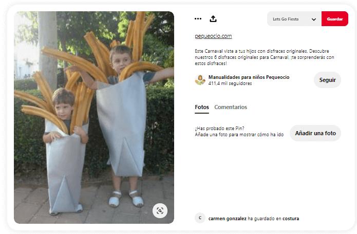disfraces creativos para niños churros