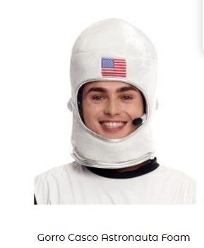 casco astronauta para disfraz among us