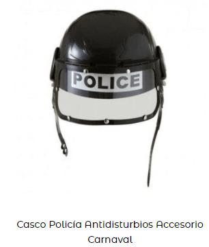 casco policía para disfraz among us